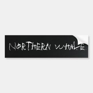 Ballena septentrional negra pegatina para auto