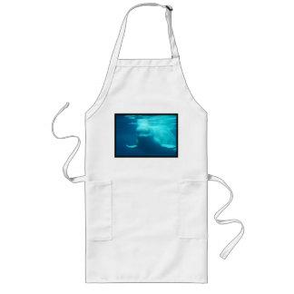 Ballena subacuática de la beluga delantal