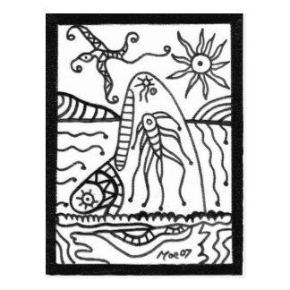 ballena tarjeta postal