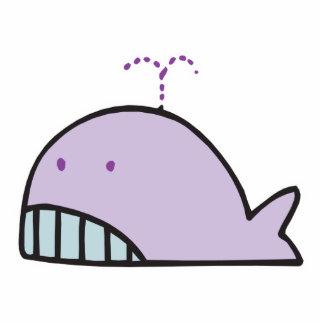ballena tonta linda de la lavanda escultura fotografica