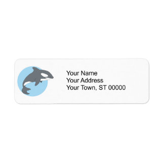 ballena triste de la orca etiqueta de remite