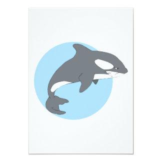 """ballena triste de la orca invitación 5"""" x 7"""""""
