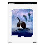 Ballena y delfínes soñadores iPad 3 skins