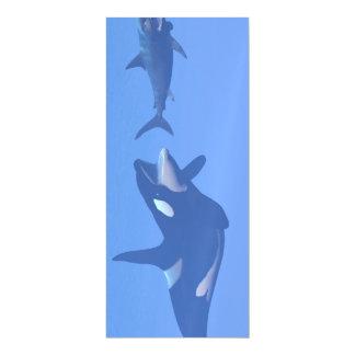 Ballena y megalodon subacuáticos - 3D rinden Invitaciones Magnéticas
