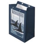 Ballenas #1 - Anacortes, Washington de la orca Bolsa De Regalo Mediana
