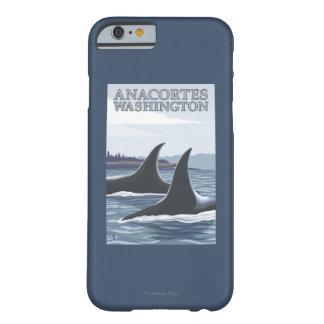 Ballenas #1 - Anacortes, Washington de la orca Funda Barely There iPhone 6