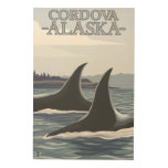 Ballenas #1 - Cordova, Alaska de la orca Cuadros De Madera