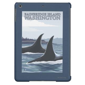 Ballenas #1 - isla de Bainbridge, Washington de la Funda Para iPad Air