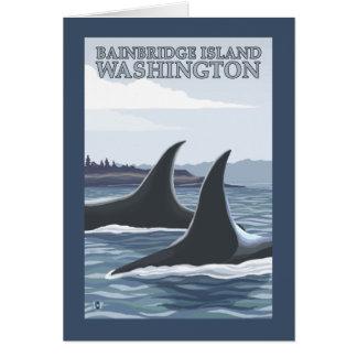 Ballenas #1 - isla de Bainbridge, Washington de la Tarjeta De Felicitación
