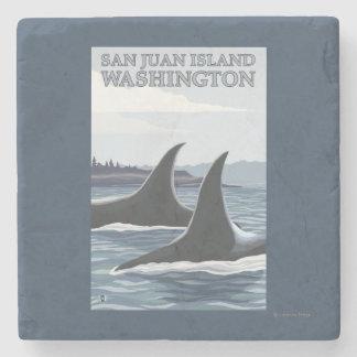 Ballenas #1 - isla de San Juan, Washington de la Posavasos De Piedra