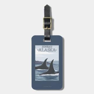 Ballenas #1 - Juneau, Alaska de la orca Etiquetas Para Equipaje