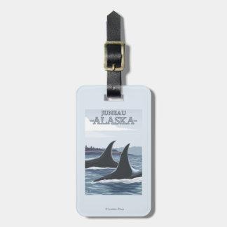 Ballenas #1 - Juneau, Alaska de la orca Etiqueta Para Equipaje