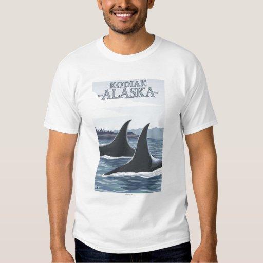 Ballenas #1 - Kodiak, Alaska de la orca Camisas