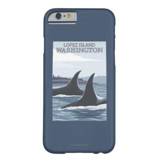 Ballenas #1 - López, Washington de la orca Funda Barely There iPhone 6
