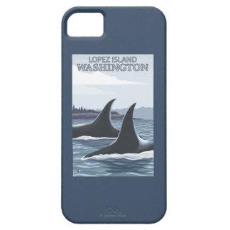Ballenas #1 - López, Washington de la orca Funda Para iPhone SE/5/5s