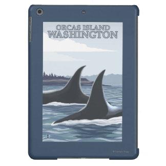 Ballenas #1 - orcas isla, Washington de la orca Carcasa Para iPad Air