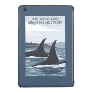 Ballenas #1 - orcas isla, Washington de la orca Carcasa Para iPad Mini
