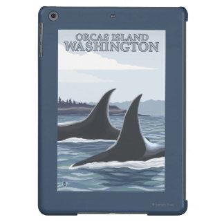 Ballenas #1 - orcas isla, Washington de la orca Funda iPad Air
