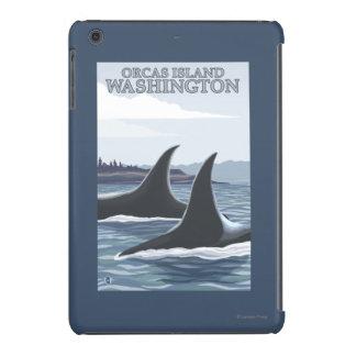 Ballenas #1 - orcas isla, Washington de la orca Funda Para iPad Mini Retina