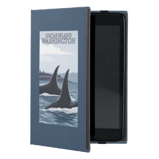 Ballenas #1 - orcas isla, Washington de la orca iPad Mini Protector