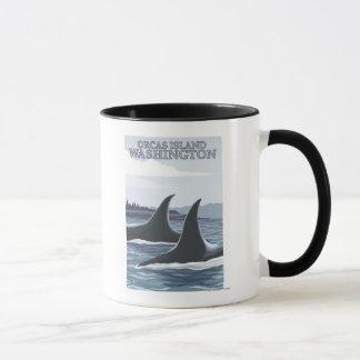 Ballenas #1 - orcas isla, Washington de la orca Taza