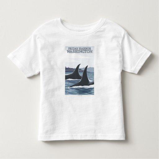 Ballenas #1 - puerto de viernes, Washington de la Camisas