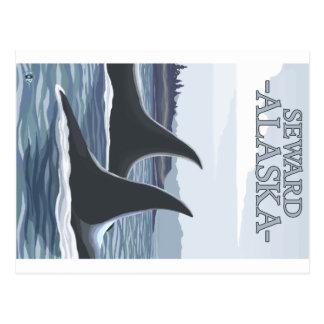 Ballenas 1 - Seward Alaska de la orca Tarjetas Postales
