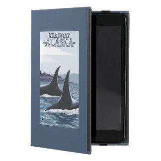 Ballenas #1 - Skagway, Alaska de la orca iPad Mini Funda