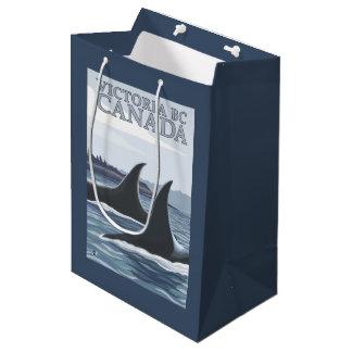 Ballenas #1 - Victoria, A.C. Canadá de la orca Bolsa De Regalo Mediana