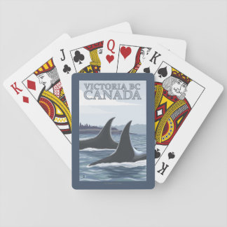 Ballenas #1 - Victoria, A.C. Canadá de la orca Cartas De Póquer