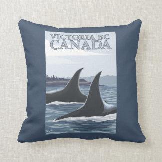 Ballenas #1 - Victoria, A.C. Canadá de la orca Cojines
