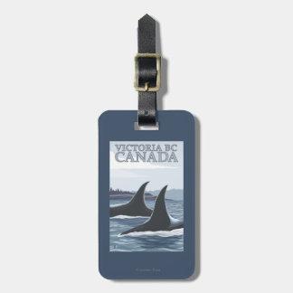 Ballenas #1 - Victoria, A.C. Canadá de la orca Etiqueta Para Equipaje