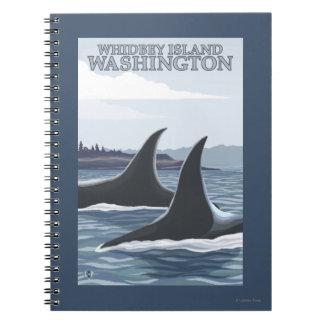 Ballenas #1 - Whidbey, Washington de la orca Libreta Espiral