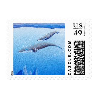 """Ballenas: Ahorre el planeta: el   pequeño, 1,8"""" x Sello Postal"""