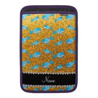 Ballenas amarillas conocidas personalizadas del br funda para macbook air
