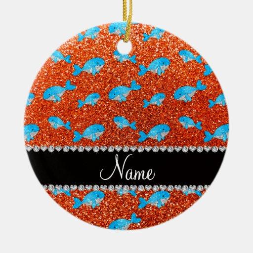Ballenas anaranjadas conocidas personalizadas del  ornato