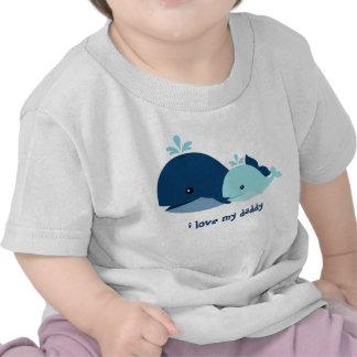 Ballenas caprichosas personalizadas camiseta