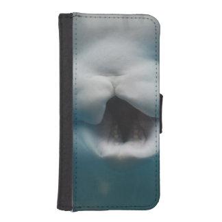 Ballenas de la beluga fundas tipo cartera para iPhone 5