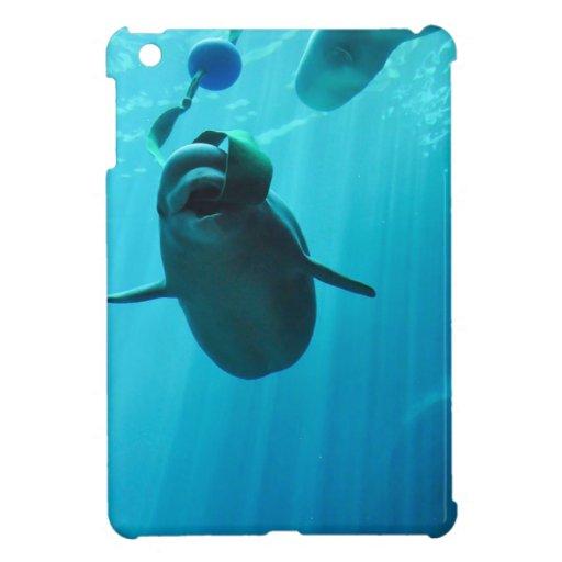 Ballenas de la beluga iPad mini fundas