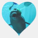 Ballenas de la beluga calcomania de corazon personalizadas