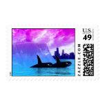 Ballenas de la orca del asesino en la ciudad (Chic