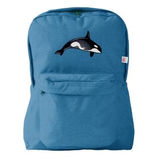 Ballenas de la orca mochila