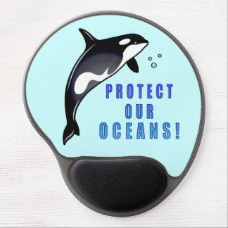 Ballenas de la orca: Proteja nuestros océanos Alfombrilla De Raton Con Gel