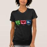 Ballenas del amor de la paz camiseta