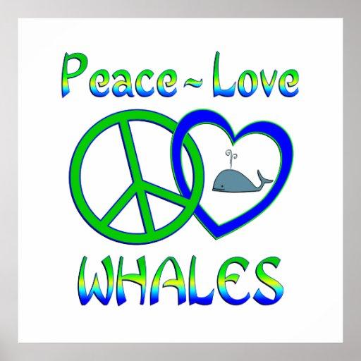 Ballenas del amor de la paz impresiones
