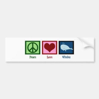Ballenas del amor de la paz pegatina para auto