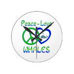 Ballenas del amor de la paz relojes