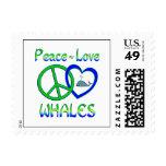 Ballenas del amor de la paz sellos