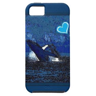 Ballenas del corazón I un tesoro en caja azul del iPhone 5 Case-Mate Carcasas
