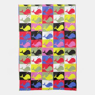 Ballenas del o de los pattern_Lots de la Ballena-H Toallas